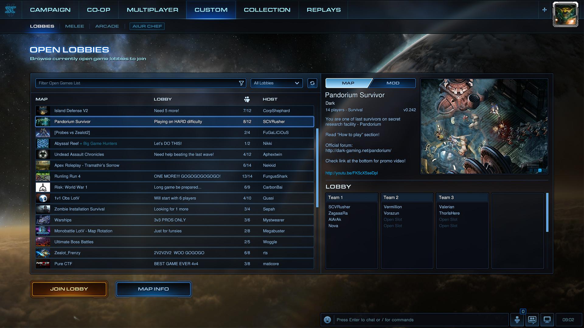 《星际争霸2》3.19版本预览:游戏大厅改进