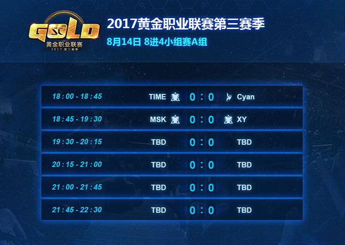 《星际争霸2》2017黄金职业联赛第三赛季8强诞生
