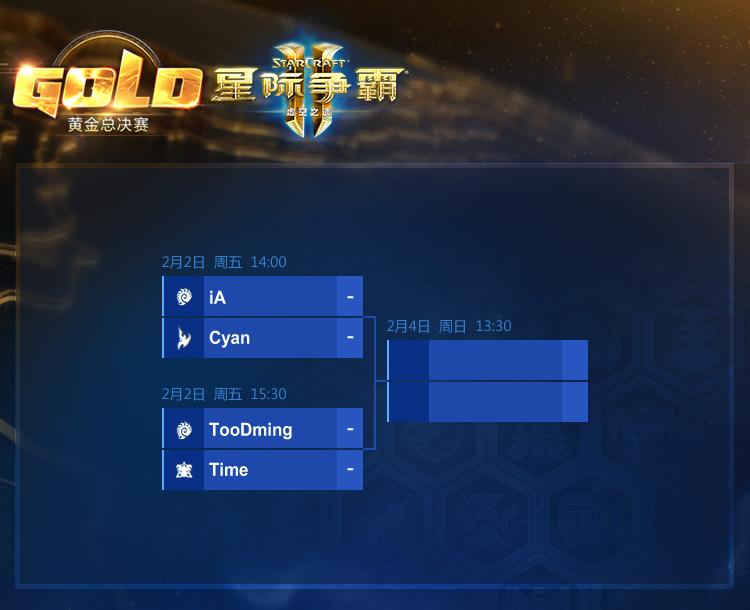 2017黄金总决赛《星际争霸Ⅱ》项目对阵公布